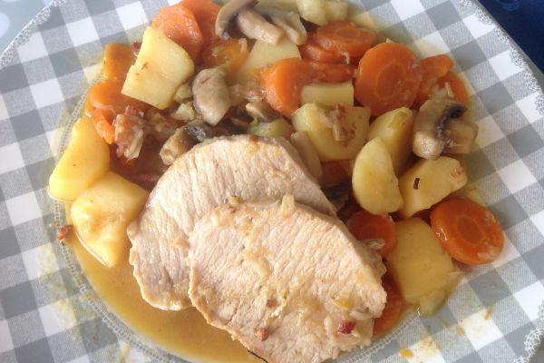 Recette COOKEO - Rôti de porc normand
