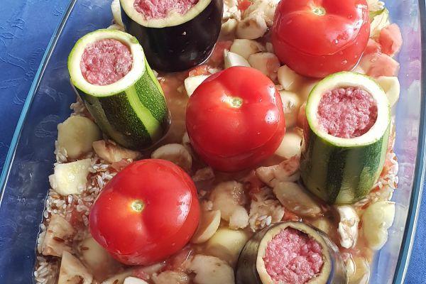 Recette Légumes farcis sur lit de riz
