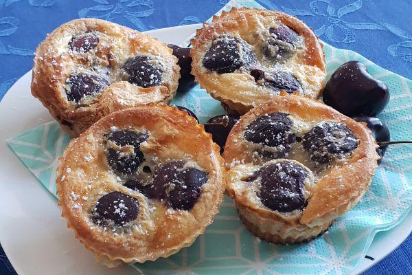 Recette Muffin façon clafoutis cerise - 2pp