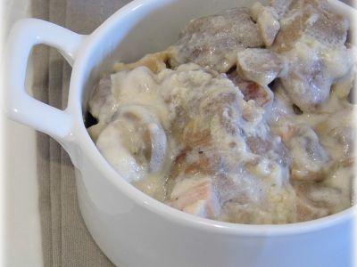 Sauté de porc à la crème et aux champignons