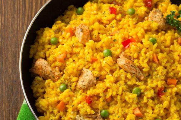 Recette Salade de fruits de mer _ riz _ curry COOKEO