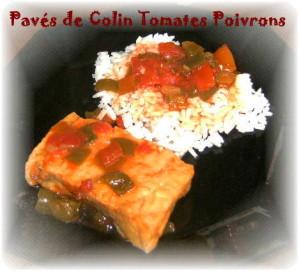 Recette Pavé de colin avec ses poivrons et son riz COOKEO