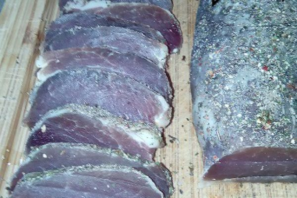 Recette Filet mignon de porc séché (maison)