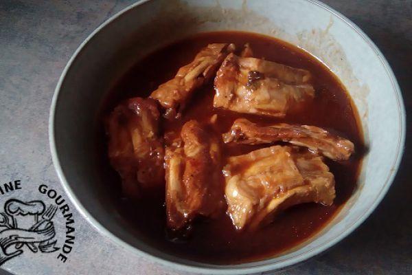 Recette RIBS sauce BARBECUE au cookéo