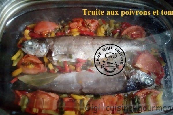 Recette Truites aux poivrons et tomates