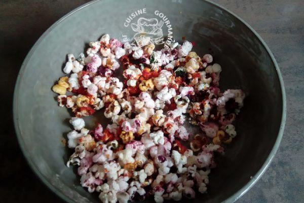 Recette pop corn multicolore (cookéo)