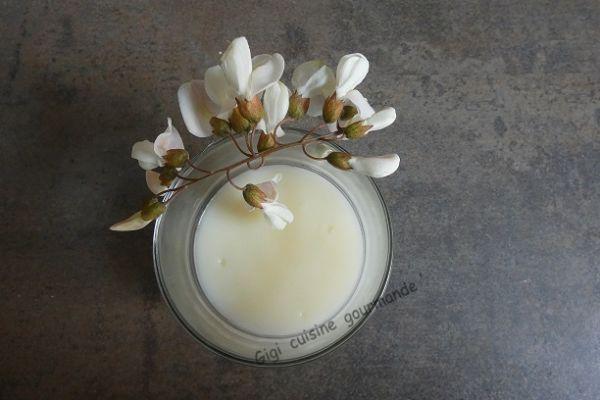 Recette Crème à la fleur d'acacia