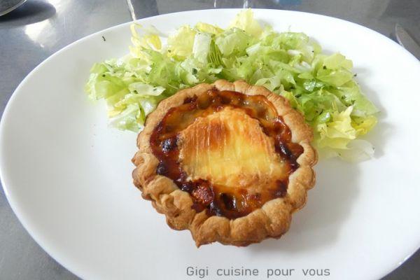 Recette Tartelette figues séchées et Saint Marcellin au cake factory