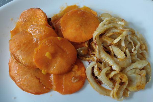 Fenouil et patates douces au cake factory