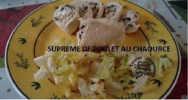 Suprêmes de poulet au Chaource