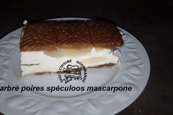 Recette marbré poires spéculoos et mascarpone