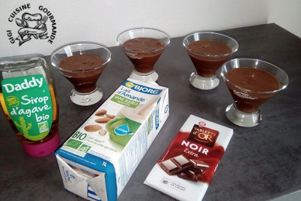 Recette Mousse chocolat, agave et lait d'amande