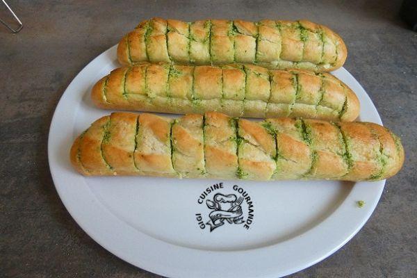 Recette pain au beurre persillé à l'ail