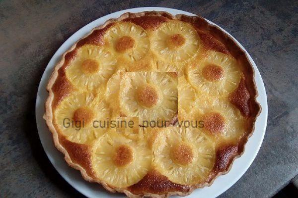 Recette Tarte à l'ananas et noix de coco