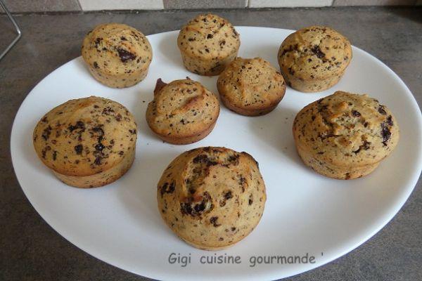 Recette Muffins farine de coco au chocolat et sirop d'érable