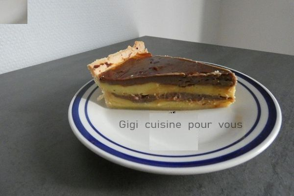 Recette Flan tigré sur pâte brisée au compact cook pro