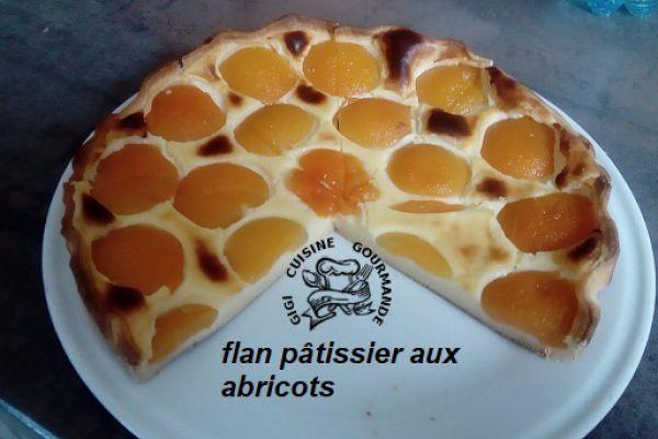 Recette Flan pâtissier aux abricots (thermomix)