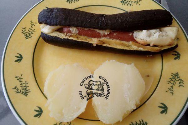 Recette courgettes saucisses et condiment