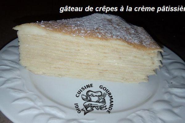 Recette gâteau de crêpes à la crème pâtissière (thermomix)