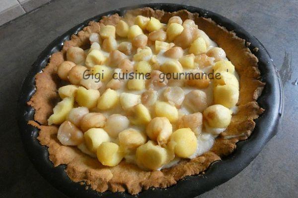 Recette Tarte aux billes de pommes et poires