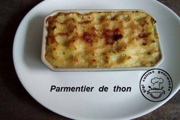 Recette PARMENTIER DE THON