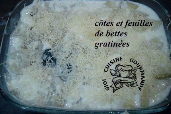 Recette GRATIN DE BETTES à la béchamel (côtes et feuilles) au cookéo