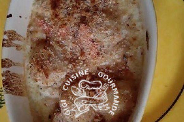 Recette Gratin de noix de saint jacques avec corail