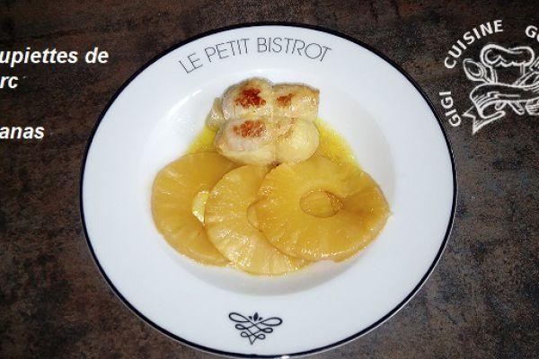 Recette Paupiettes de porc et ananas au cookéo