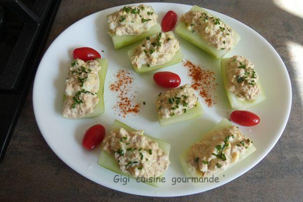 Recette Fraîcheur de concombre