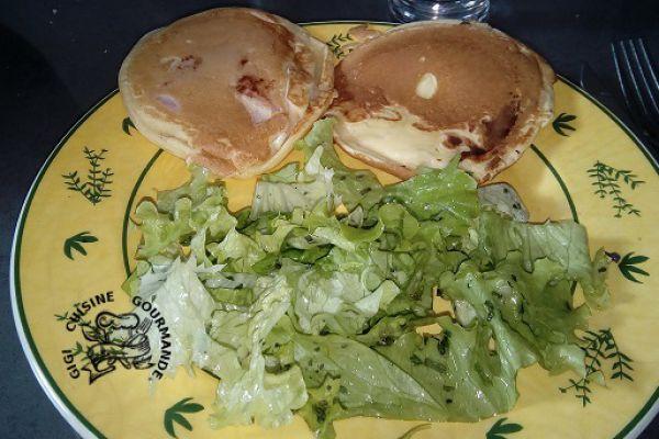 Pancakes jambon et fromage
