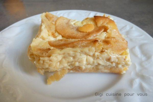 Recette Flan limousin aux pommes avec le cake factory