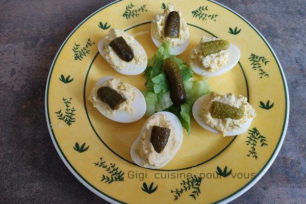 Recette Oeufs mimosa au tartare (cuisson au cookéo)