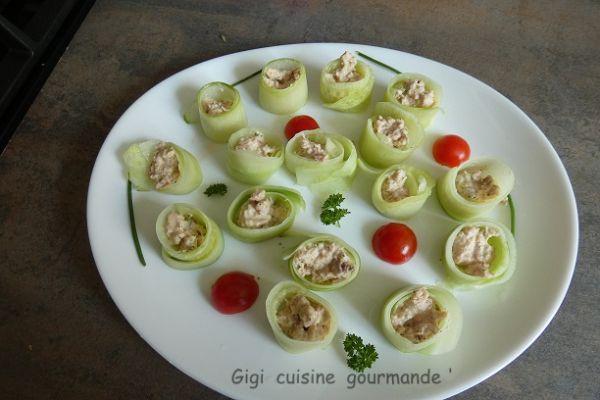 Recette Bouchées de concombre au thon