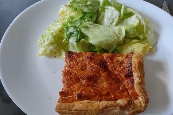 Recette Quiche au thon et tomates au cake factory