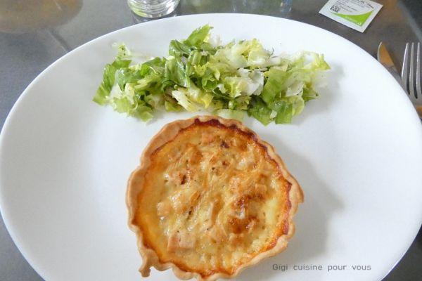 Recette Tartelettes au reblochon et dés de poulet
