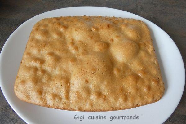 Génoise sans oeufs au cake factory