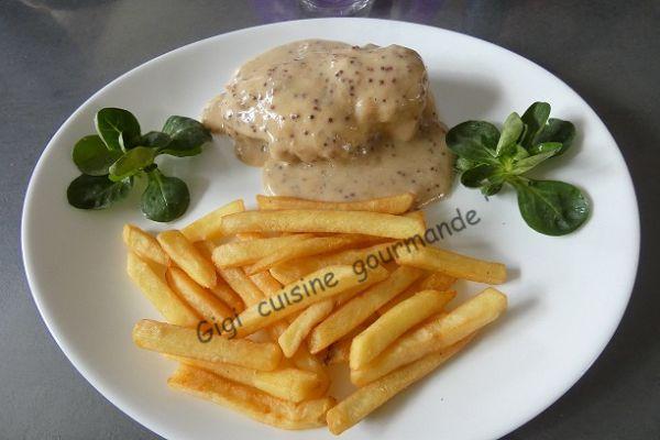 Recette Blanc de poulet et sa sauce cidre rosé moutardée