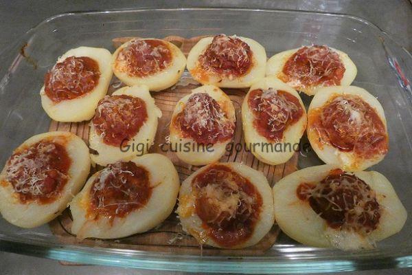 Pommes de terre boulettes bolognaises