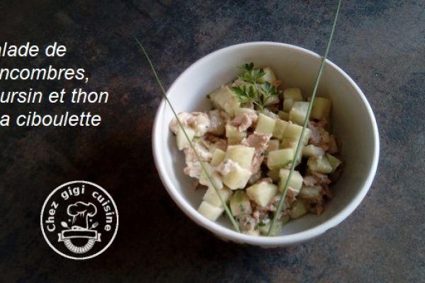 Recette Salade de concombre, boursin et thon