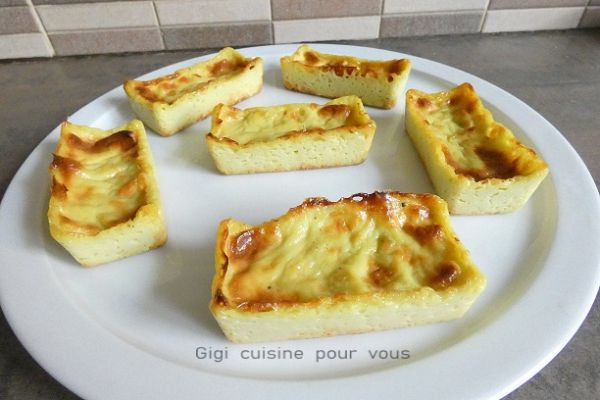 Mini flan pâtissier à la pistache (cc pro et cake factory)