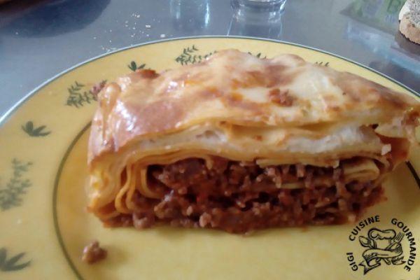 cake de lasagnes bolognaises