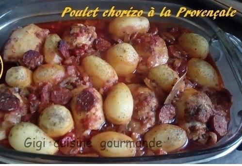 Recette Poulet chorizo à la sauce provençale