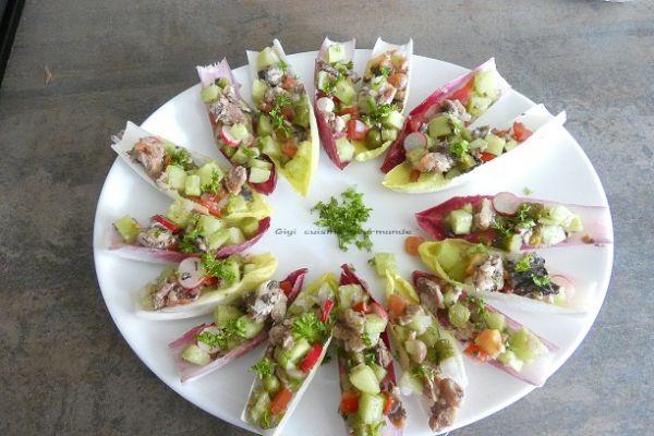Recette Faux tartare de légumes et sardines