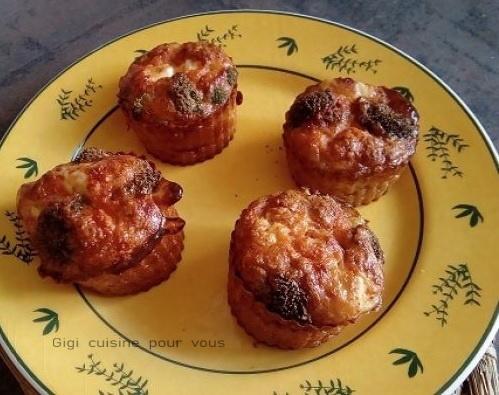 Muffins au brocolis et féta au cake factory