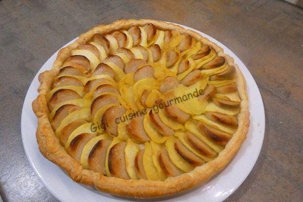 Recette Tarte boudin blanc et pommes