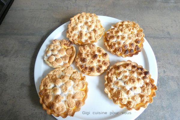 Tartelettes meringuées aux kakis