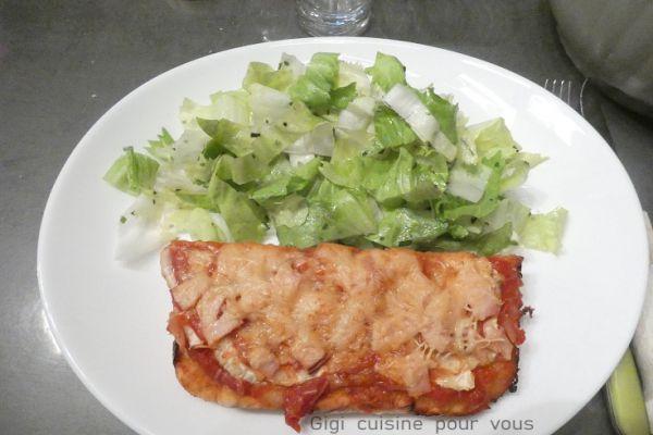 Recette Pizza fenouil et blanc de poulet au cake factory (et ccpro)
