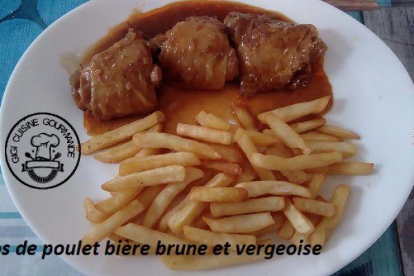 Haut de cuisses de poulet bière brune et vergeoise (cookéo)