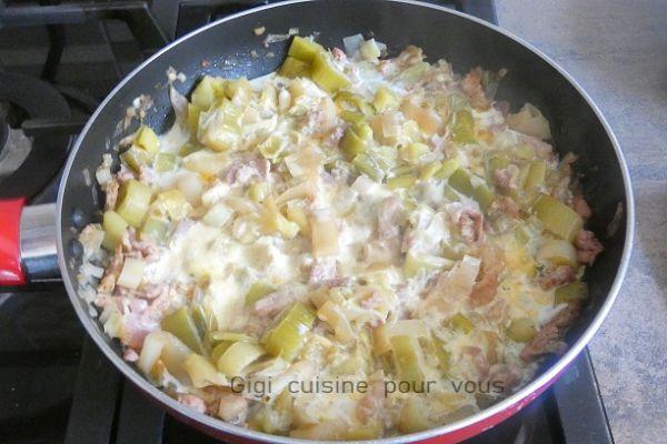Poireaux lardés poêlés à la crème (cookéo)