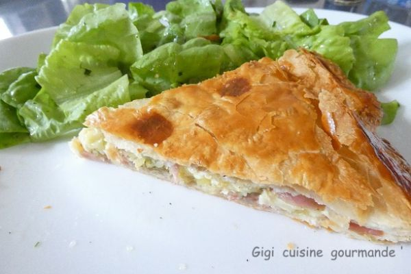 Recette Tourte au camembert et persillade